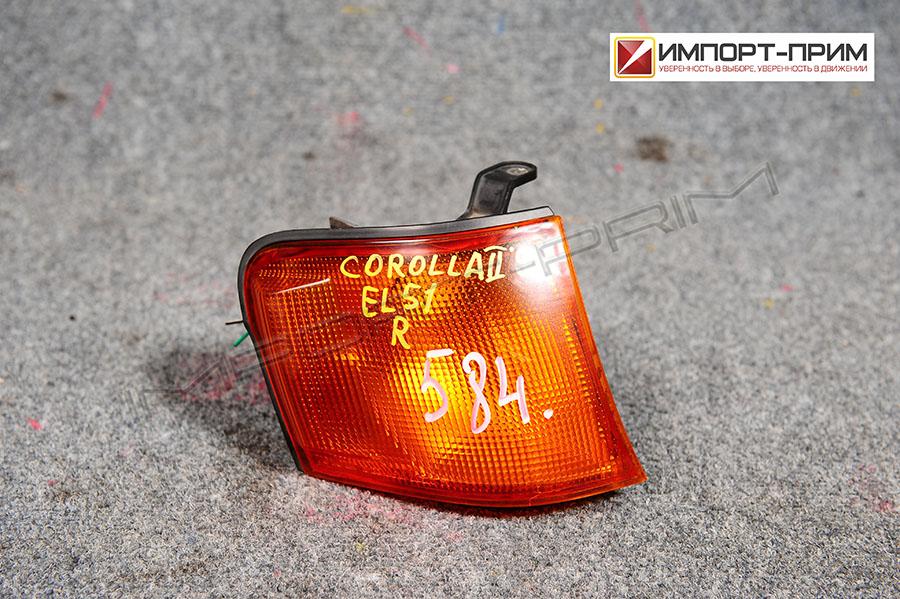Поворотник к фаре Toyota COROLLA II EL51 4EFE Фото 1